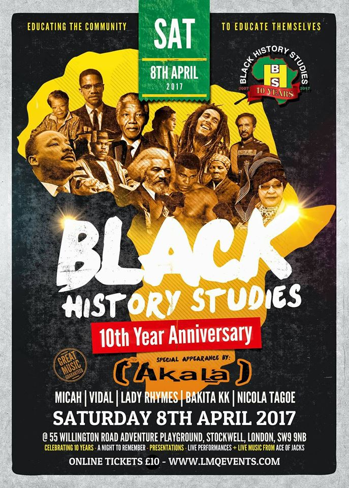 Black History Studies 10th Anniversay – Music by Ace Of Jacks Radio