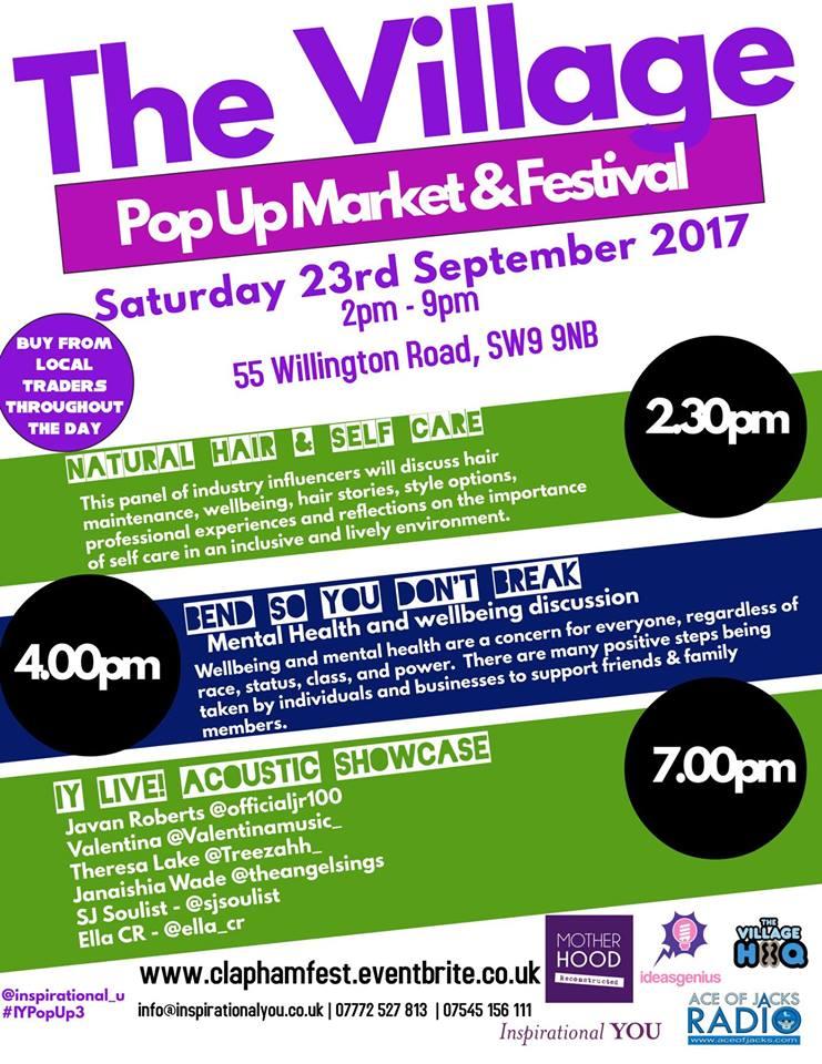 The Village PopUp Market & Festival – Sept 2017