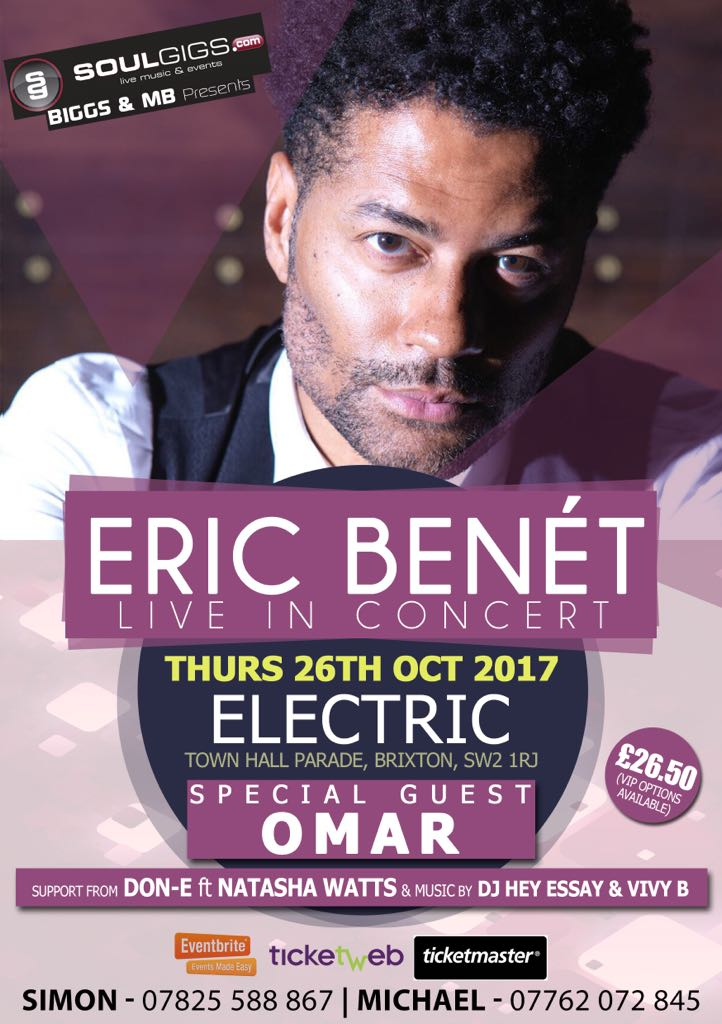 Eric Bonet LIVE in Concert TOMORROW!!!!