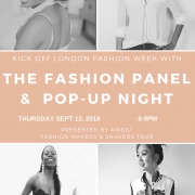 The Fashion Panel & Pop-Up Night for the fashionistas