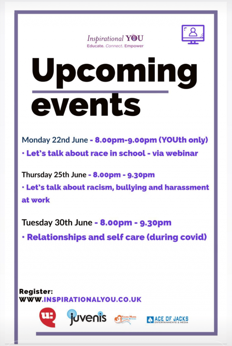 Supporting forthcoming events from Inspirational You